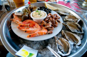 Taurine is found in seafood